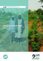 Développement local   Appui au secteur privé