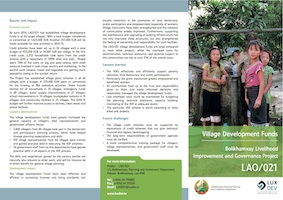 Village Development Funds by the Bolikhamxay Livelihood Improvement and Governance Project